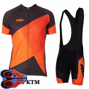 KTM Team Short Sleeve Cycling Jersey Maillot Ropa Ciclismo Clothing Cycling Jersey GEL Bib Short