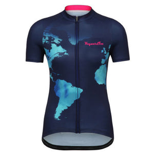 Cycling jersey Women's Team WaywardFox cycling clothing Racing bicycle wear 100% Polyester Breathable