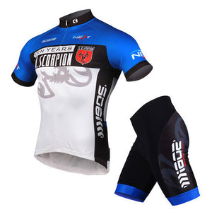 Unisex Outdoor Sportswear Bike Bicycle Cycling Cycle Clothing Suits Short Sleeve Jersey 3D Pad Bike Shorts