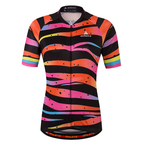 Women Cycling Jersey Breathable Short Sleeve Jersey