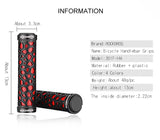 Bike Bicycle Handlebar Grips Rubber Lock-on Light Grip For MTB Folding Bike Fixed Design Bike Parts Fit 2.22cm 4 Colors