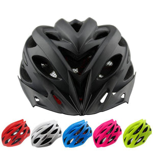 Bicycle Helmets Matte Black Men Women Bike Helmet Back Light Mountain Road Bike Integrally Molded Cycling Helmets