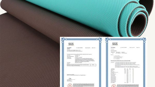 Pro Yoga Mat High Density Non Slip 100% TPE  72 x 24 1/4 (6mm) Thickness