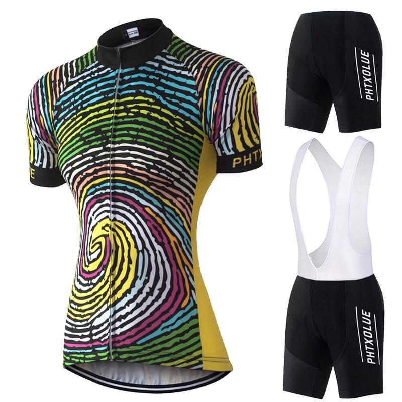 Women Cycling Clothing Breathable Black Yellow Bike