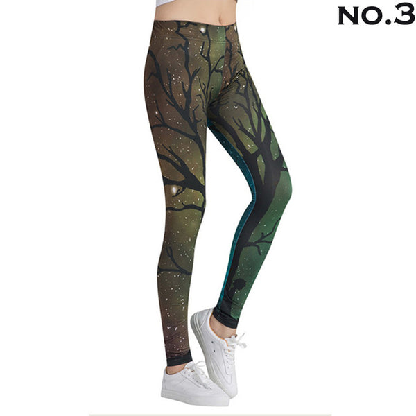 Women Sport Leggings Printed Yoga Pants Women High Waist Gym