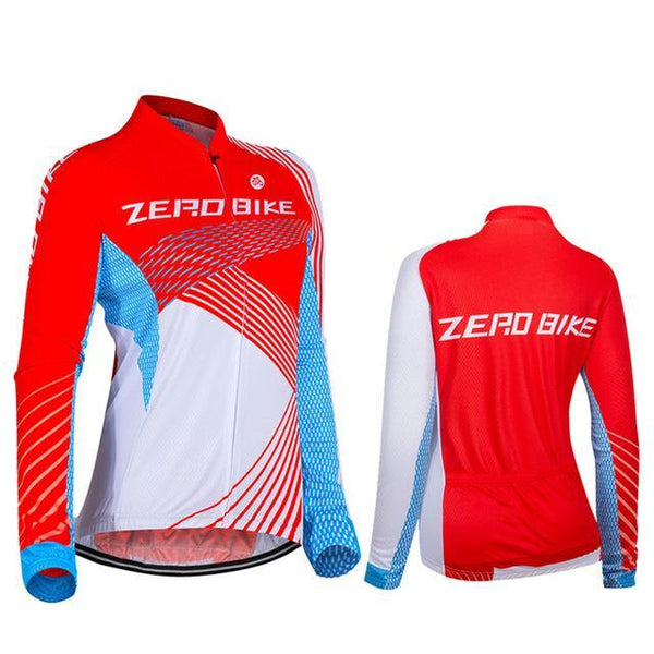 2018 Women's Long Sleeve Cycling Jersey Breathable Shirt High Quality Bike