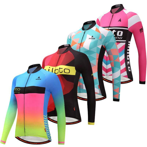 Cycling Jersey Long Sleeve Women Riding Bicycle Wear Sports Shirt