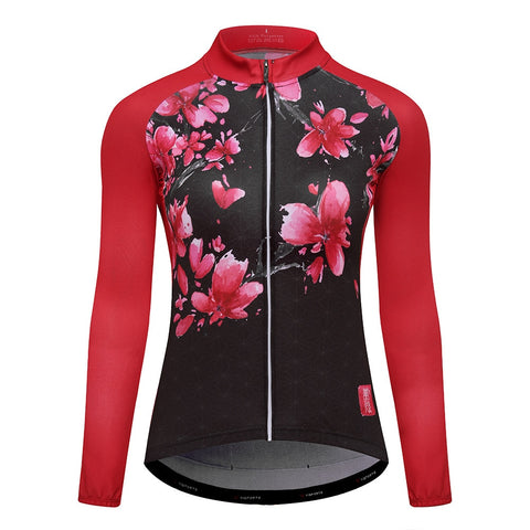 Women Cycling Jersey Clothing Mtb Bicycle Clothes Female Ciclismo Long Sleeves
