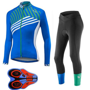 Liv Pro 2018 Cycling Long Sleeves Jersey bib pants sets