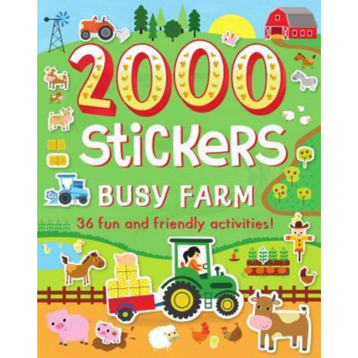 2000 Stickers Busy Farm Activity Book