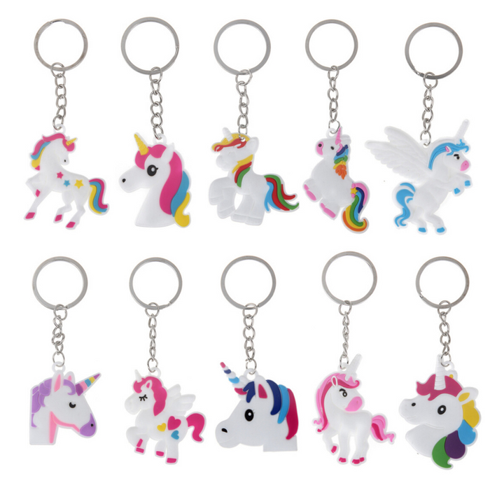 Silicone Unicorn Key Chain- Assorted, Each
