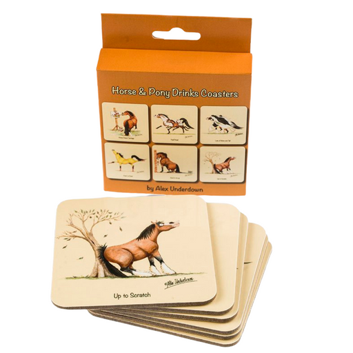 Horse and Pony Drink Coasters by Alex Underdown