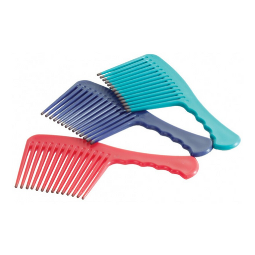 Plastic Mane & Tail Comb with Handle - Assorted