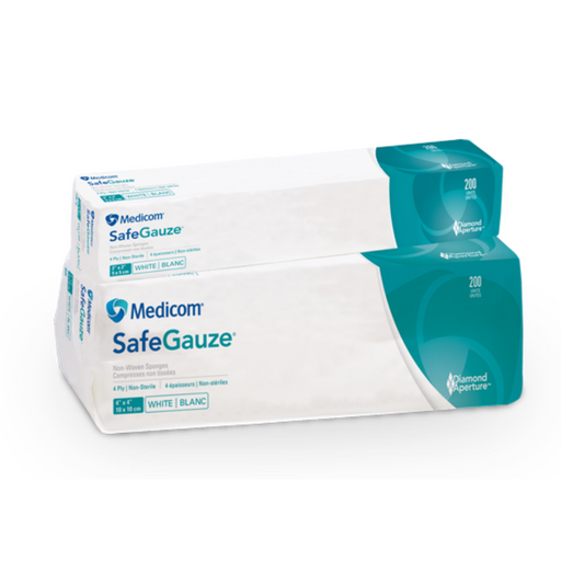 "Medicom SafeGuaze 10cmx10cm/4""x4"" - 200 Units"