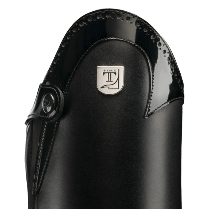 Tucci Time Tall Boot Marilyn Pro with E-Tex - Black - Punched Patent Leather