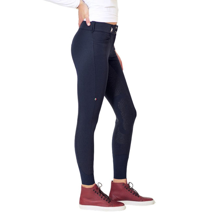 For Horses Remie Tech Grip Breeches - Navy
