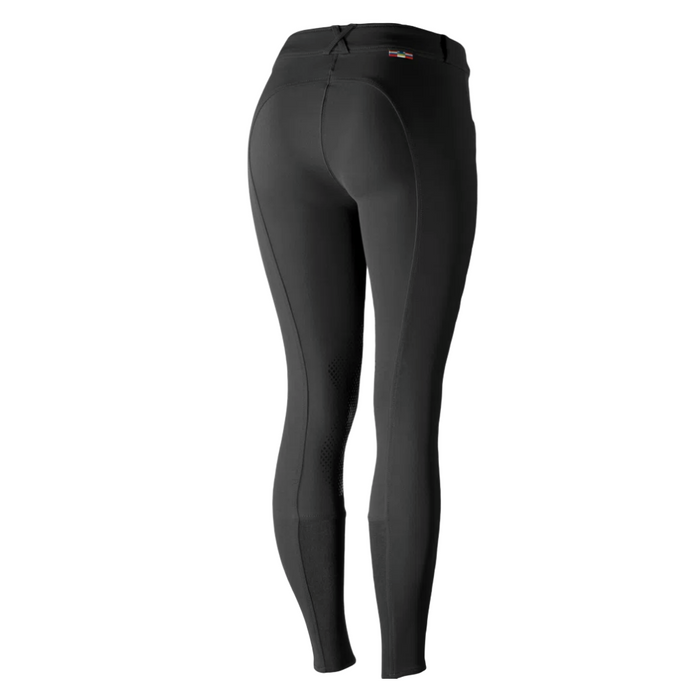 Horze Grand Prix Ladies Silicone Knee Patch Breeches - Black