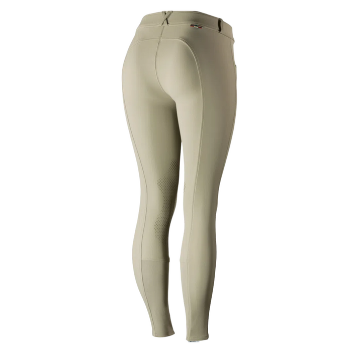 Horze Grand Prix Ladies Silicone Knee Patch Breeches - Beige