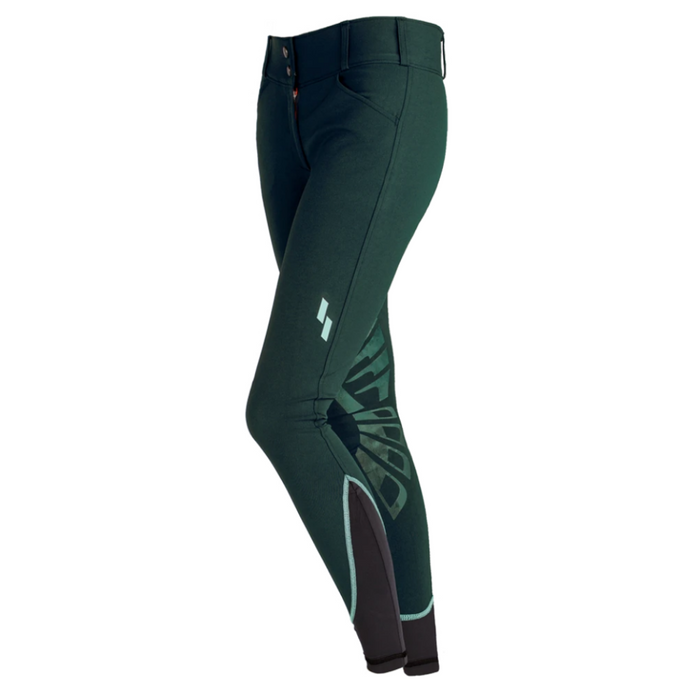 Struck Ladies 50 Series Schooling Breeches - Emerald Green