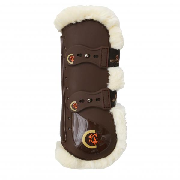 Kentucky Horsewear Synthetic Sheepskin Front Boots Elastic Tab
