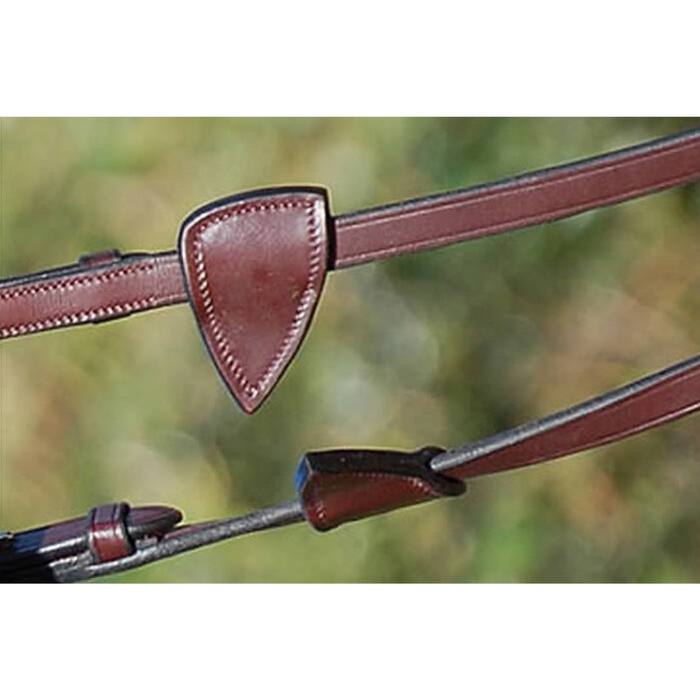 "Dyon Hunter Soft Leather Reins with Stops 5/8"" New English Collection"