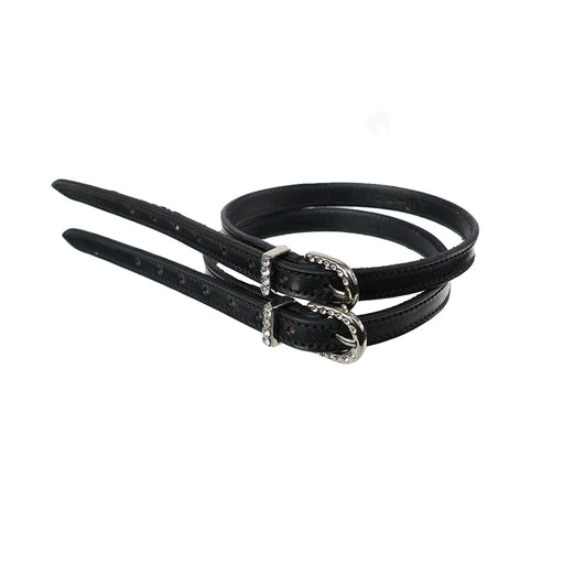 IKONIC Spur Straps with Stone Set Buckles