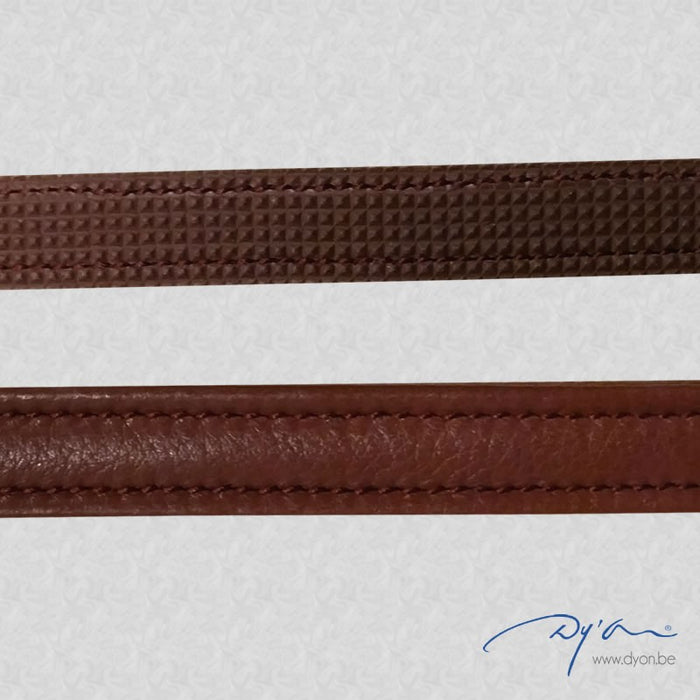 "Dyon Leather Draw Reins ½"" with Hunter Grip"