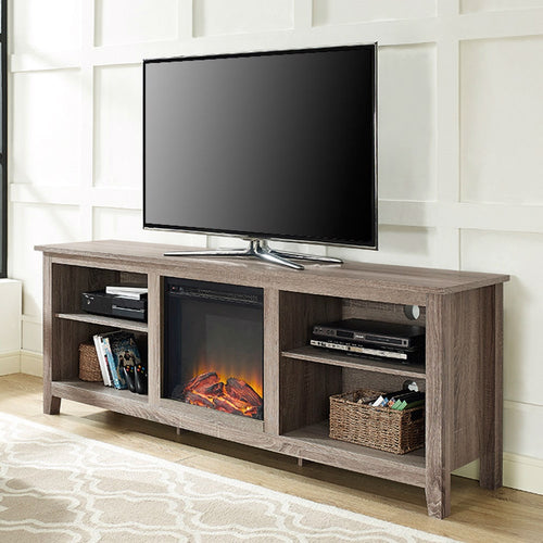 stand with tv electric fireplace driftwood walker edison inch ash grey