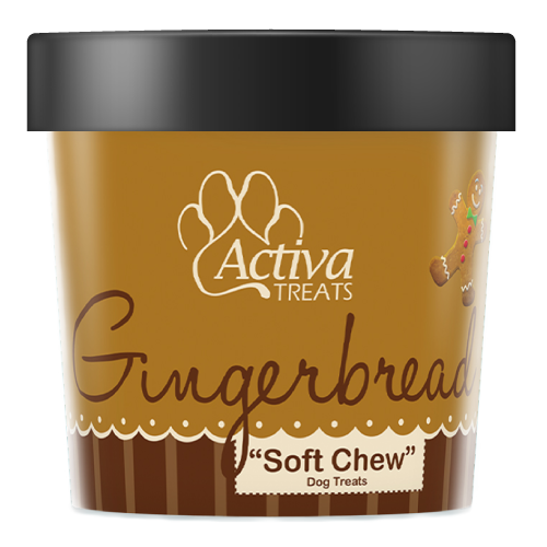 Activa Soft Chew Gingerbread Dog Treats