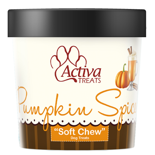 Activa Soft Chew Pumpkin Spice Dog Treats