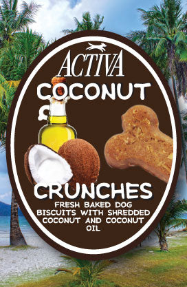 Coconut Crunch Dog Biscuits