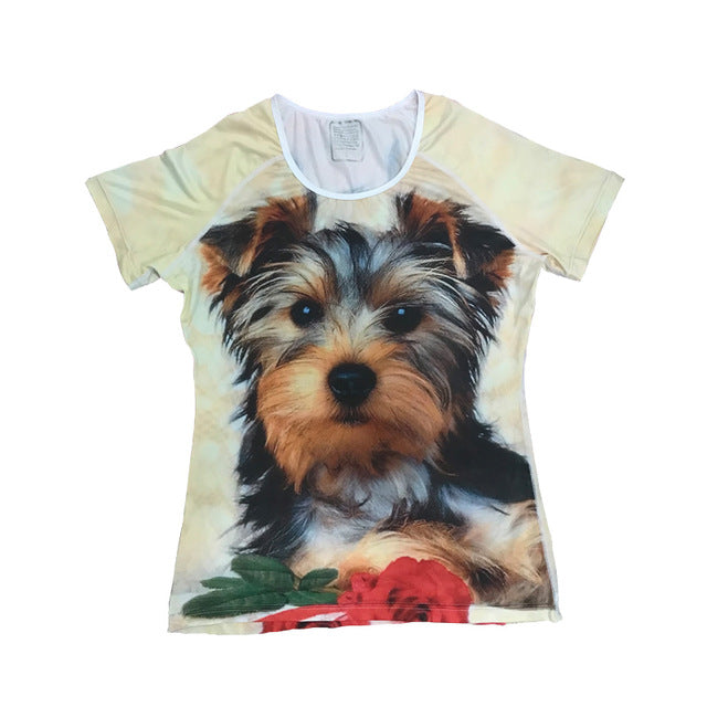32c04185e108 Funny Printing 3D Animal Dog Cat T-Shirts - 3DFN