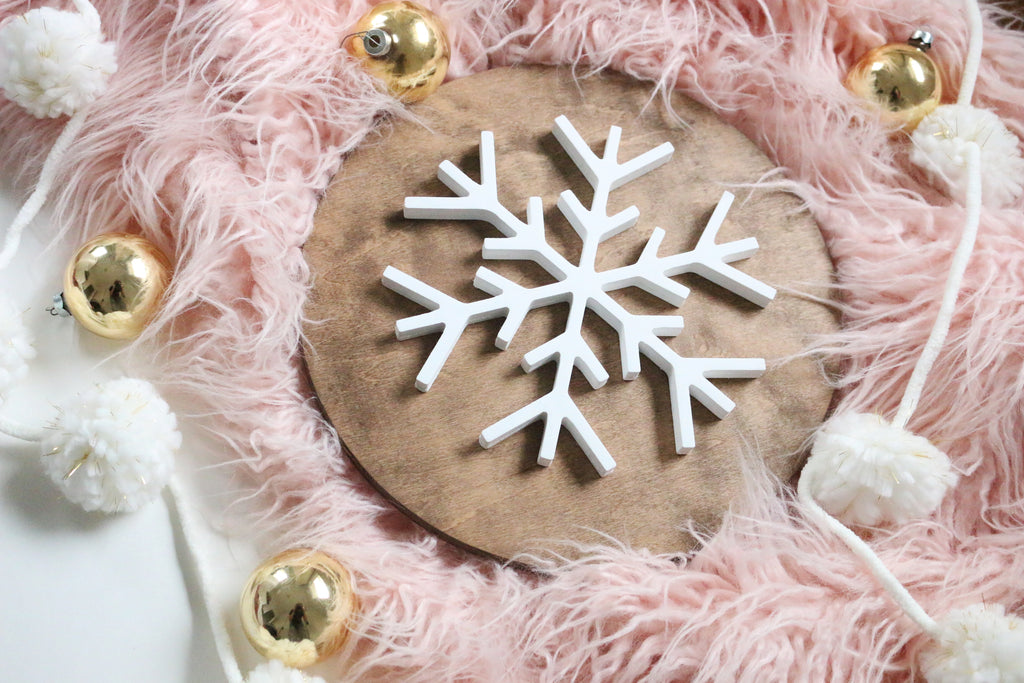 "12"" Snowflake Christmas Sign"