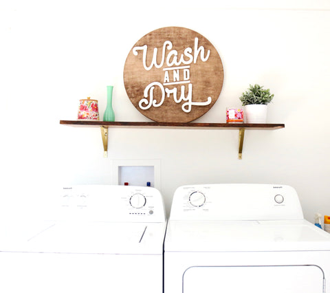 "24"" Wash and Dry Sign"