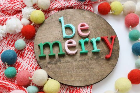 "12"" Be Merry Christmas Sign"