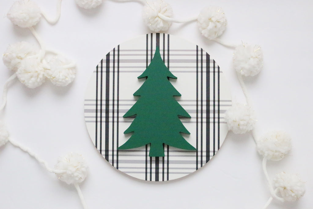 "12"" Special Green Christmas Tree Sign"
