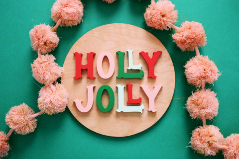 "12"" Holly Jolly Christmas Sign"