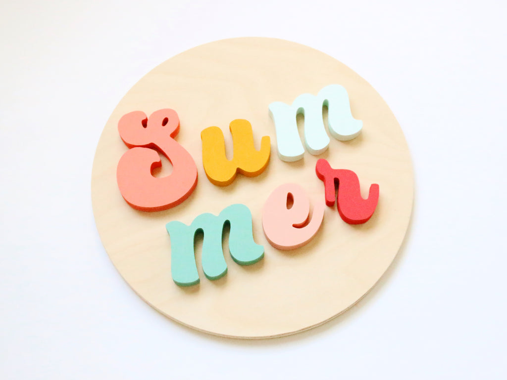 "12"" Retro Summer Sign"
