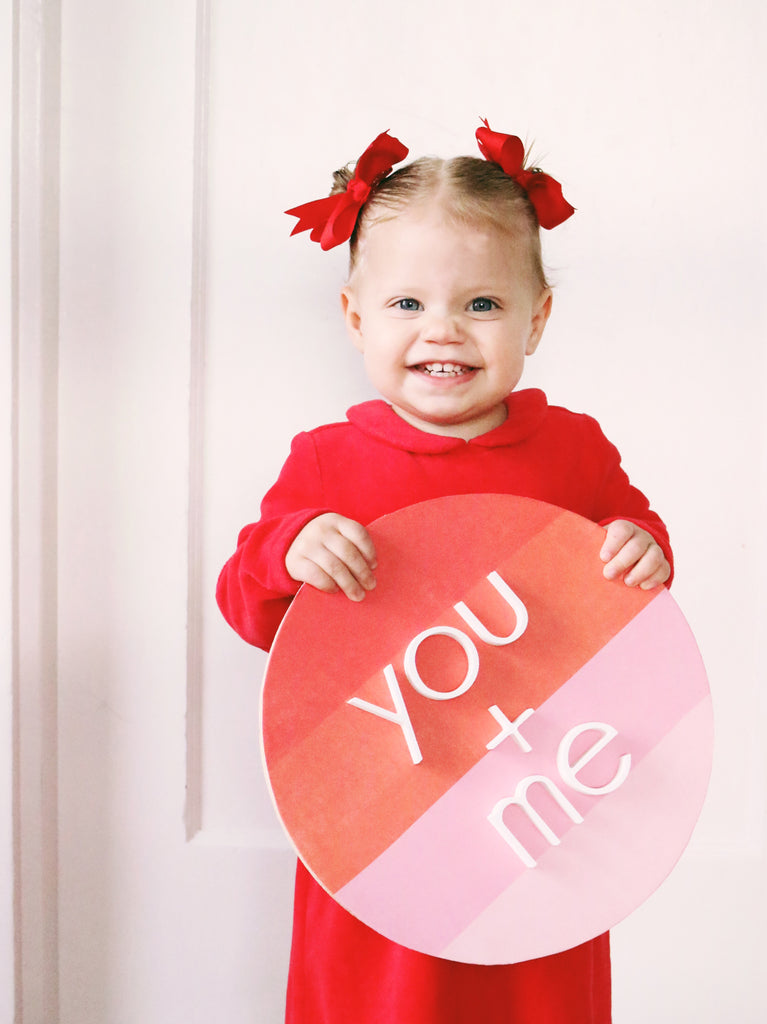 "12"" You + Me Valentine Sign"