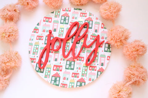 "12"" Jolly Christmas Sign"