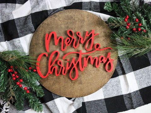 "18"" Merry Christmas Sign"