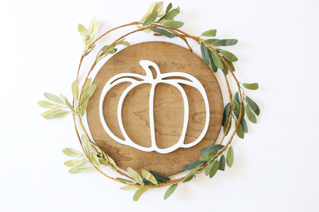 "12"" Pumpkin Sign"