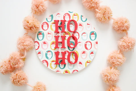 "12"" Santa Ho Ho Ho Christmas Sign"