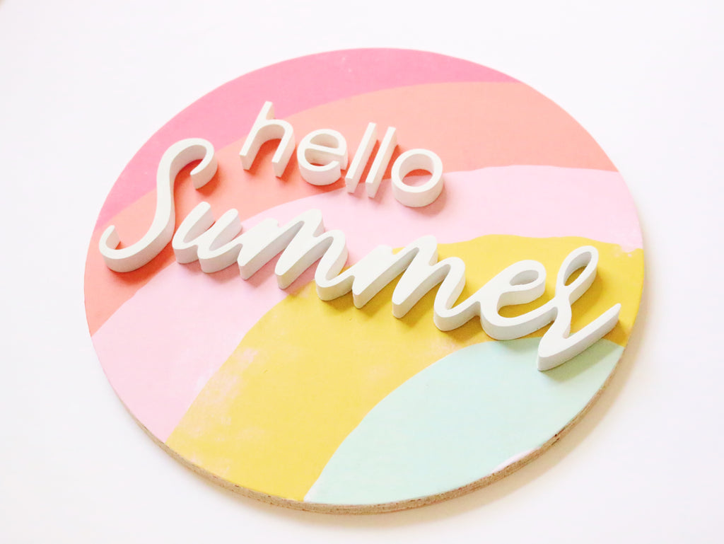 "12"" Hello Summer Sign"
