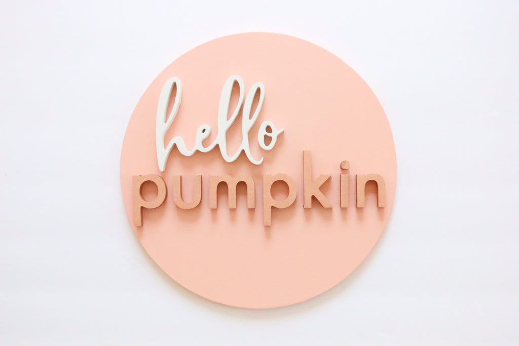 "12"" Hello Pumpkin Sign"