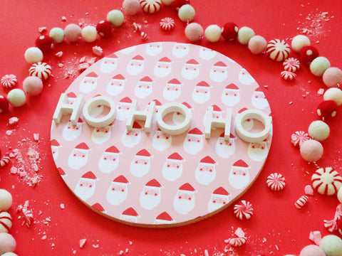 "12"" Ho Ho Ho Christmas Sign"