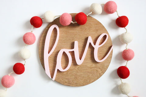 "12"" Love Valentine Sign"