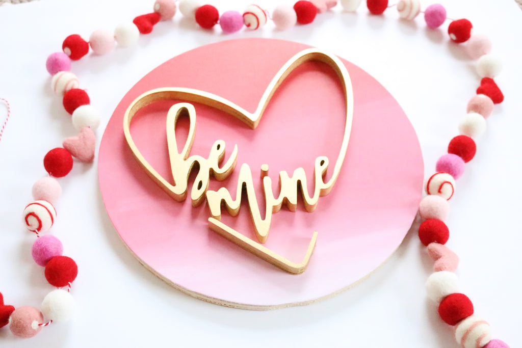 "12"" Be Mine Valentine Sign"