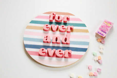 "12"" For Ever and Ever Valentine Sign"