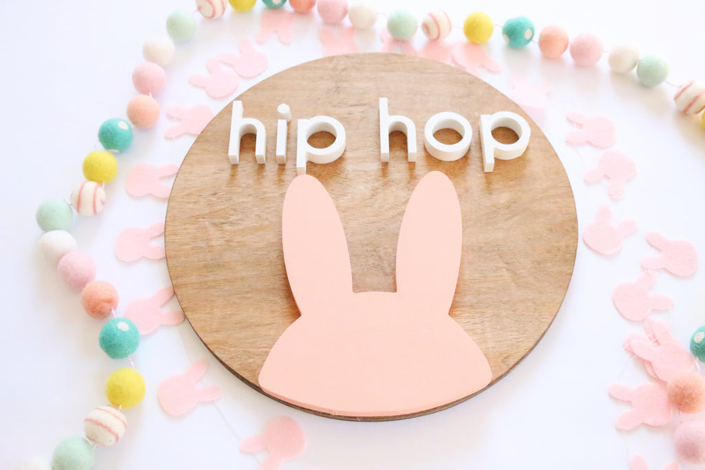 "12"" Hip Hop Spring Sign"